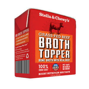 Stella & Chewy's Grass Fed Beef Beef Broth Topper for Dogs, 11-oz