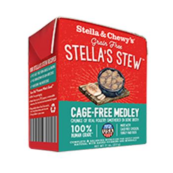 Stella & Chewy's Cage-Free Medley Wet Food Stew for Dogs, 11-oz