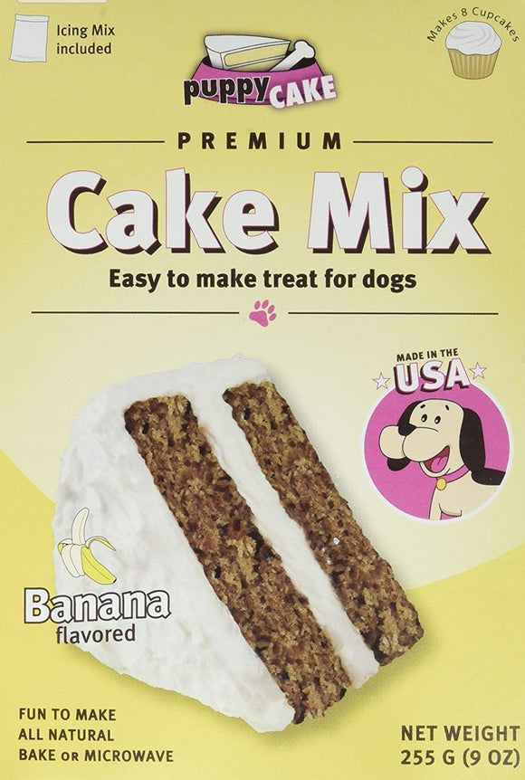 Puppy Cake Mix - Banana Cake Mix and Frosting for Dogs