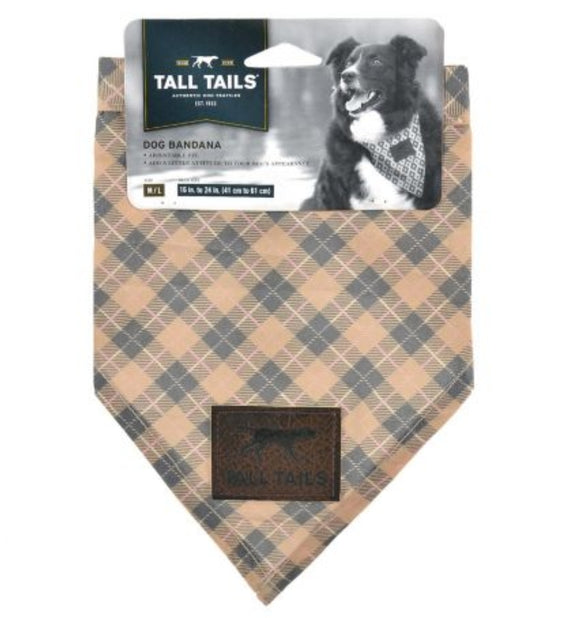 Plaid Tan Bandana