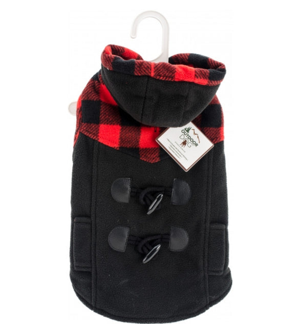 Plaid Trim Designer Dog Coat