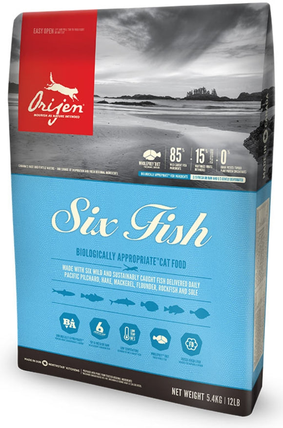 Orijen Six Fish Grain Free Dry Cat Food
