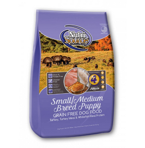 NutriSource Grain Free Small and Medium Breed Puppy Recipe Dry Dog Food