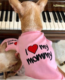 I Love My Mommy T-shirt Pink