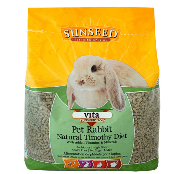 Sunseed Vita Sunscription Pet Rabbit Natural Timothy Diet