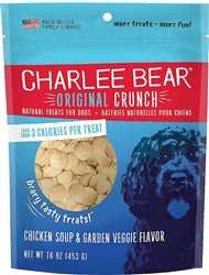 Charlee Bear Chicken Soup & Garden Veggies Flavor Dog Treats, 16-oz bag