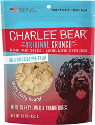 Charlee Bear Turkey Liver & Cranberries Flavor Dog Treats, 16-oz bag