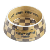 Checker Chewy Vuiton Paris Bowl