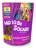 Lucy Pet Hip to Be Square Chicken and Pumpkin Dog Treats 6oz.