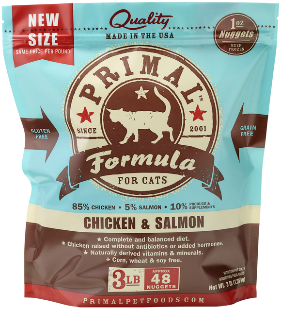 PRIMAL CAT CHICKEN SALMON FROZEN 3LB