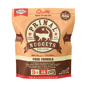PRIMAL CAT PORK NUGGETS FROZEN 3LB
