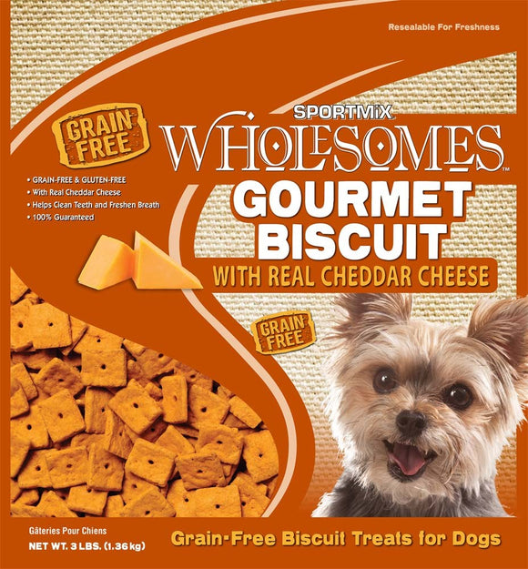 SPORTMiX Wholesomes Gourmet Biscuits with Cheese Dog Treats