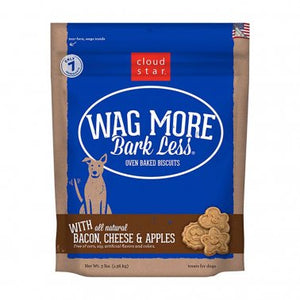Cloud Star® Wag More Bark Less® Bacon, Cheese & Apples Oven Baked Dog Biscuits 3 Lbs