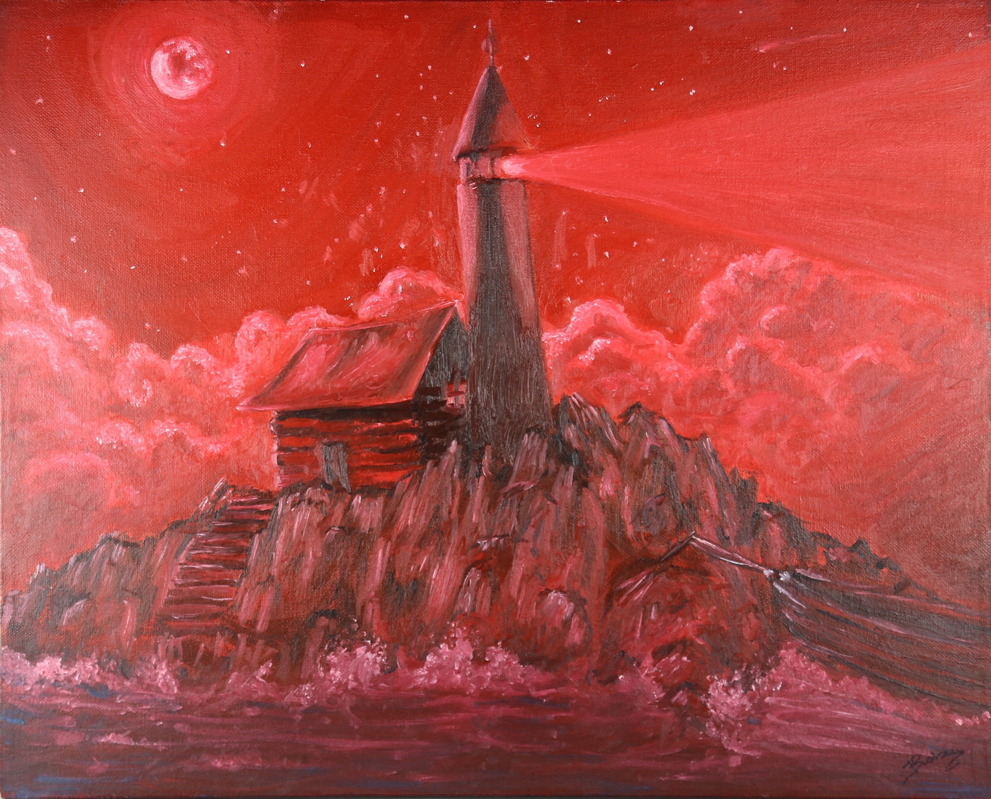 Crimson Lighthouse