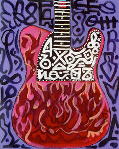Flaming Telecaster