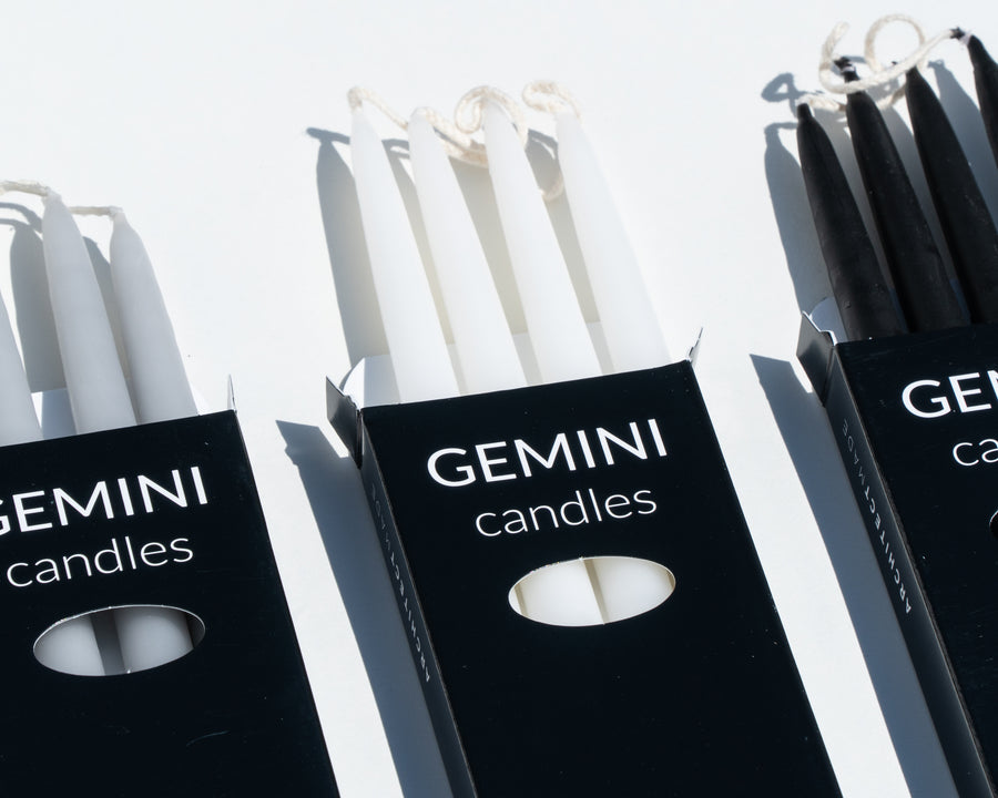 'Gemini' Hand-Dipped Candles