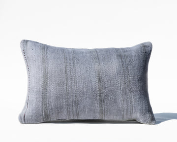 Woven Blue Turkish Lumbar Pillow Cover