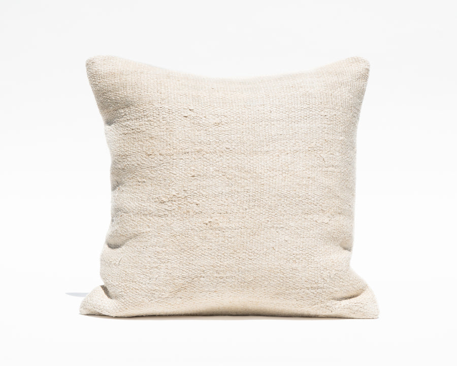 Large Antique Turkish Natural Hemp Pillow Cover