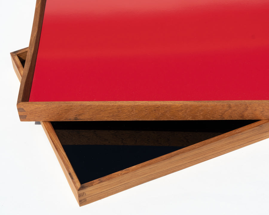 'Turning Tray' 1 by Finn Juhl - Black/Red