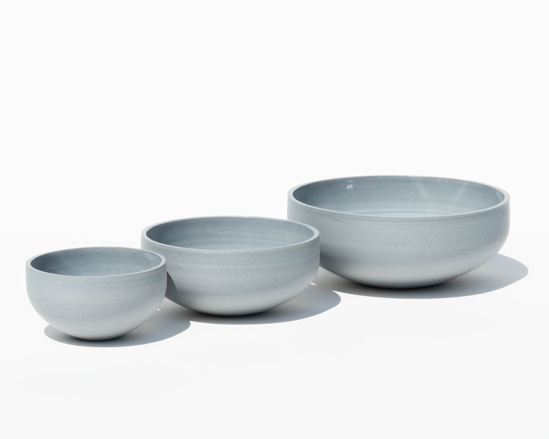 Trio of Porcelain Bowls - Blue