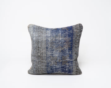 Blue Antique Turkish Kilim Pillow Cover