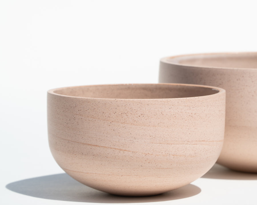 Trio of Porcelain Bowls - Blush