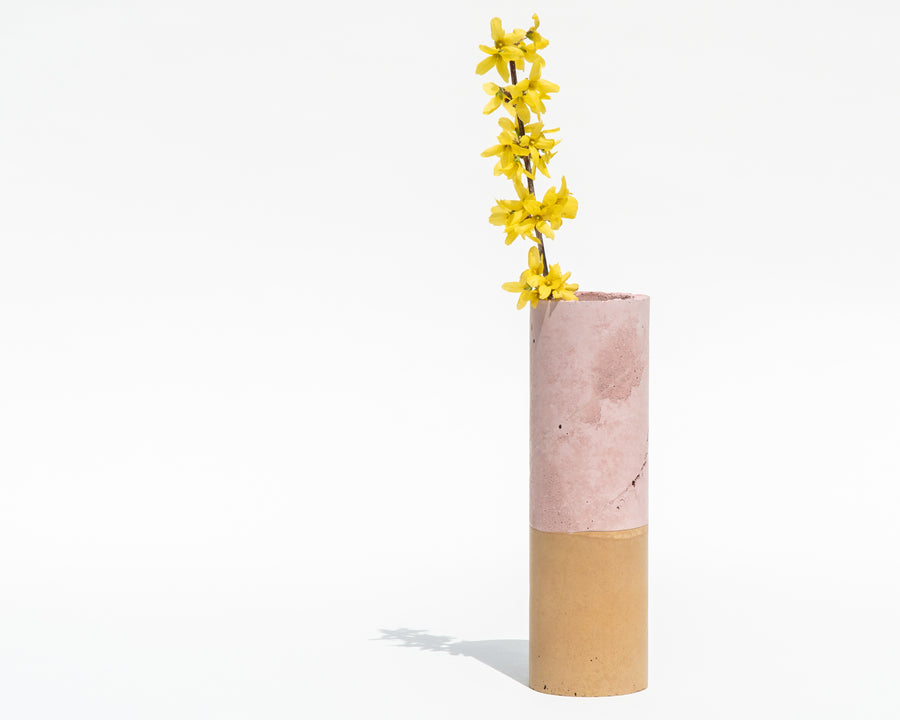 Concrete Vase - Blush