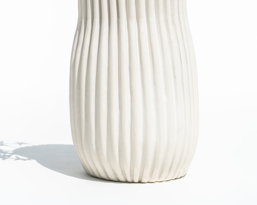 Curved Porcelain Vase