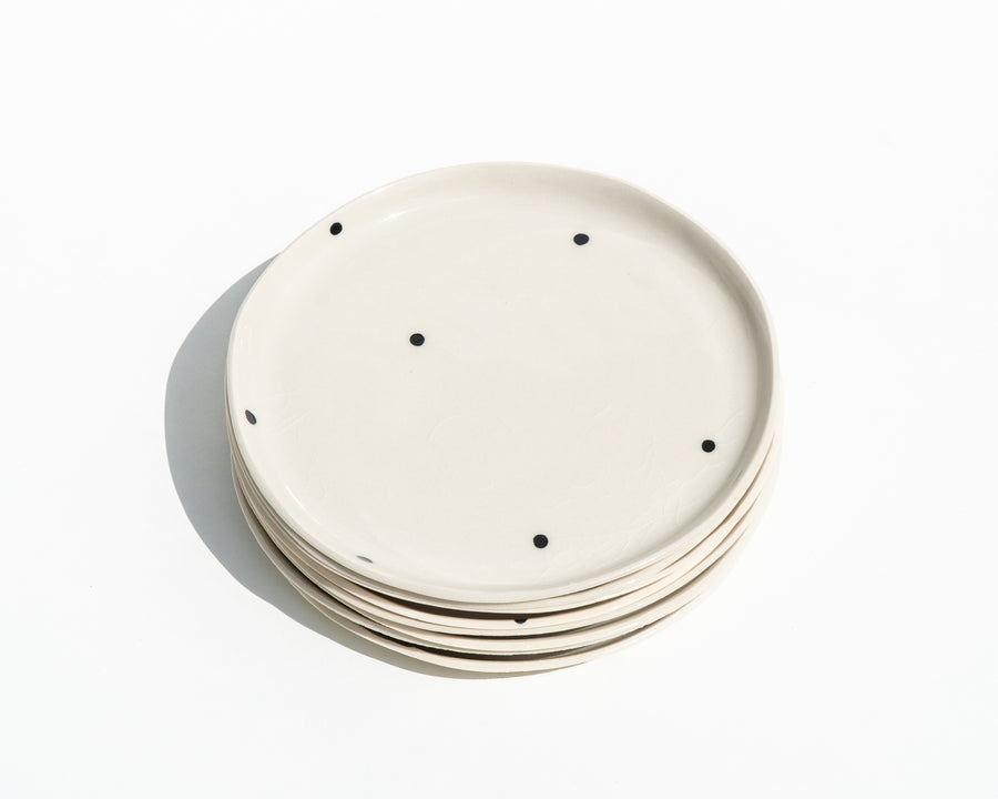 Dot Porcelain Dessert Plates - Set of 4