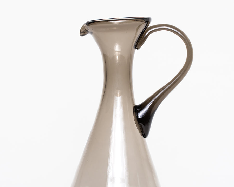 Mid-Century Smokey Glass Pitcher