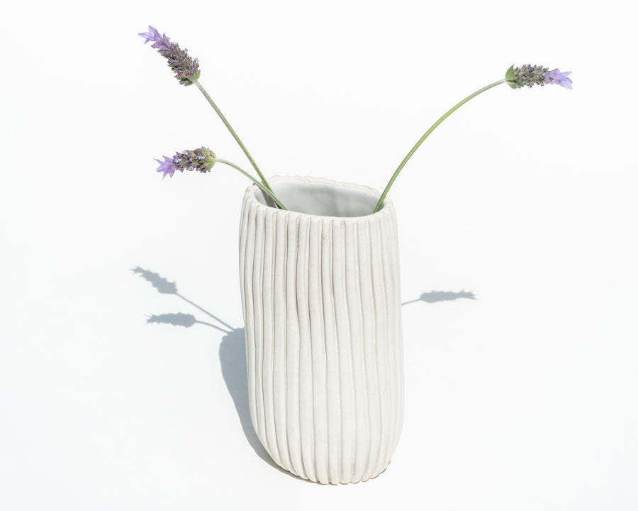 Narrow Oval Porcelain Vase