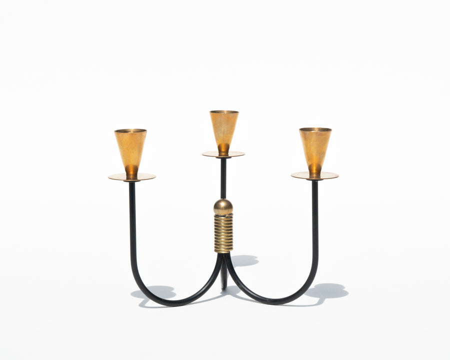 Nils Johan Brass and Metal Candelabra
