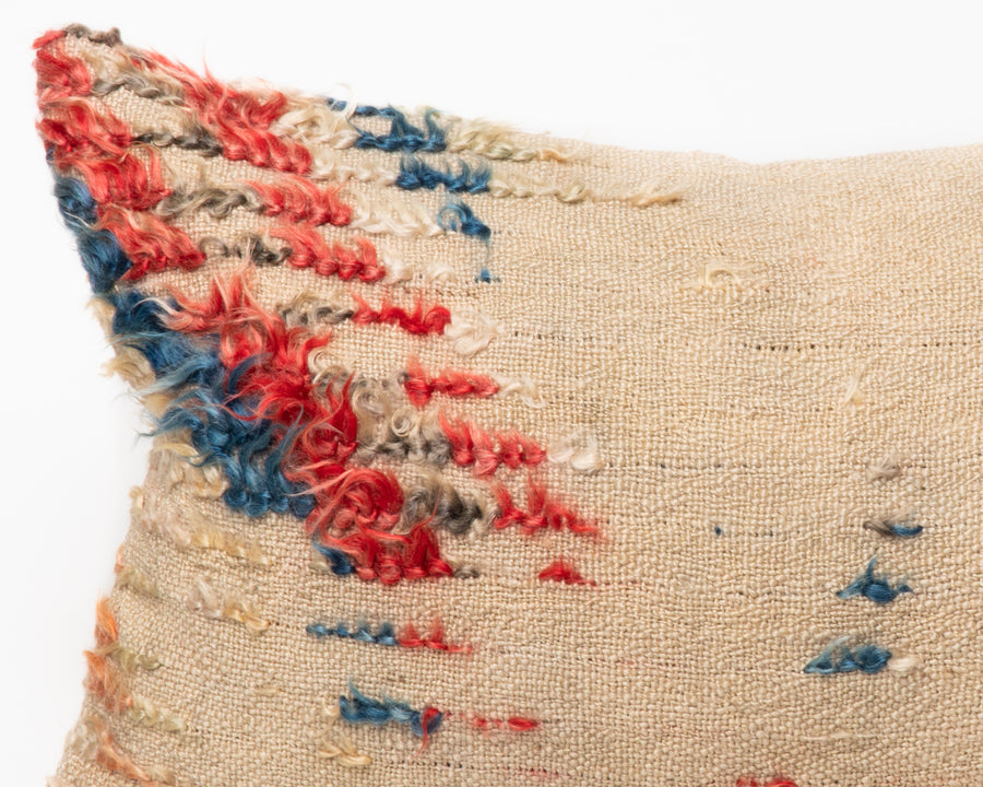 Antique Red & Blue Tülü Kilim Pillow Cover