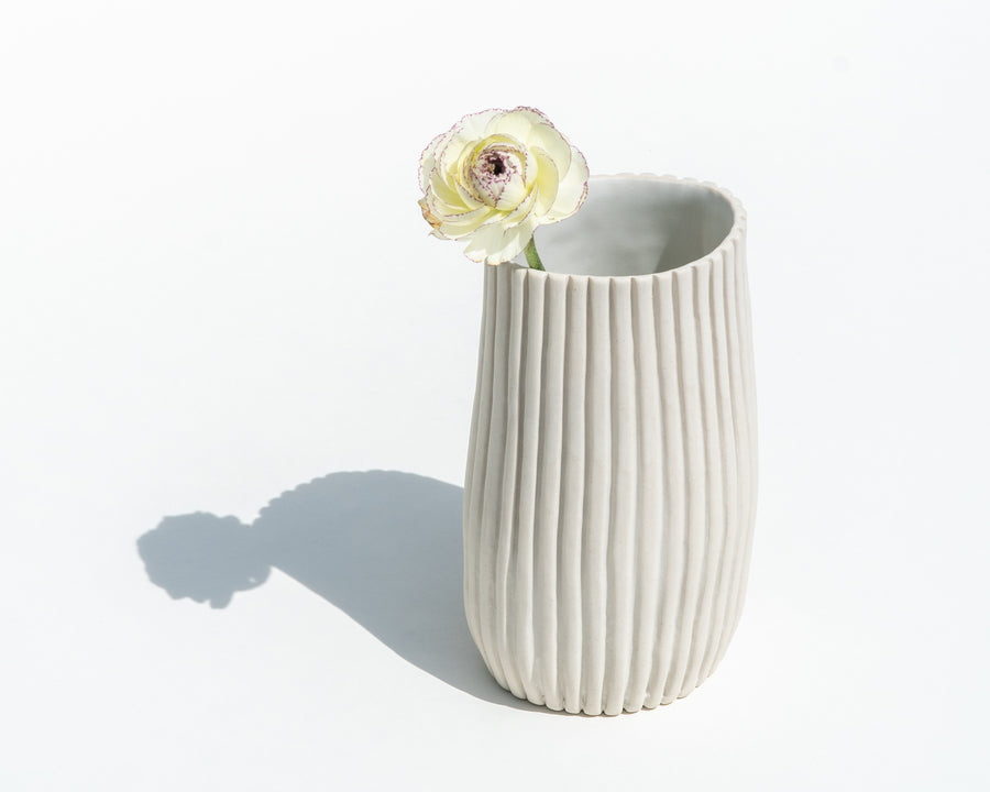 Wide Oval Porcelain Vase