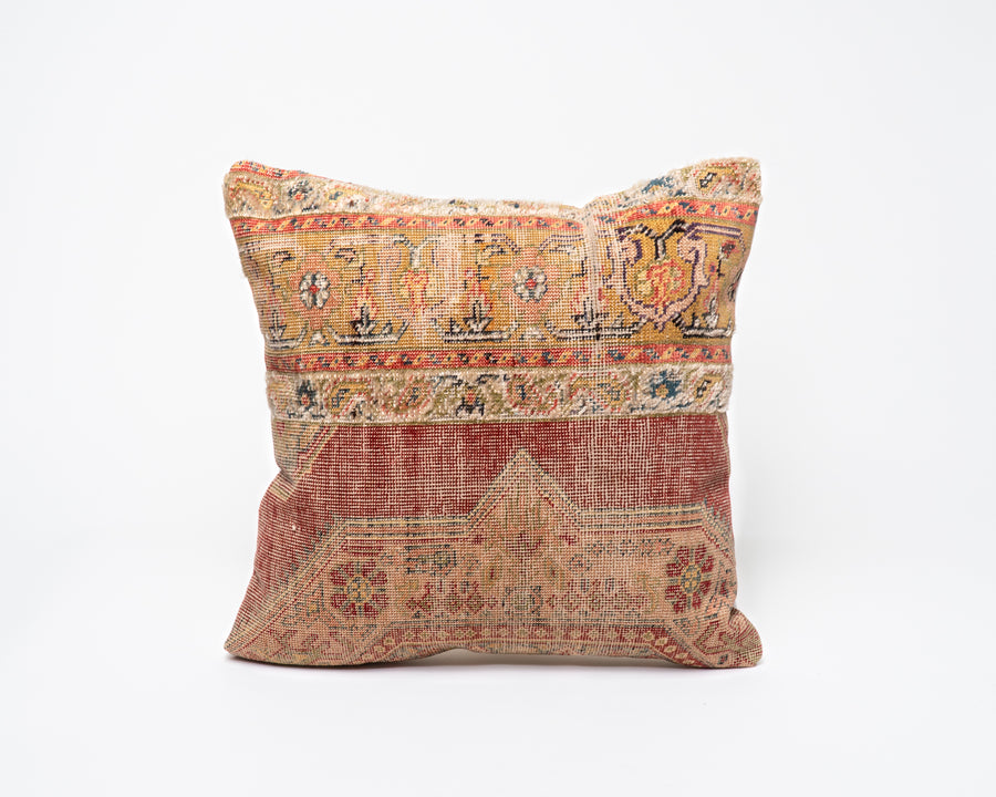 Colorful Antique Turkish Kilim Pillow Cover