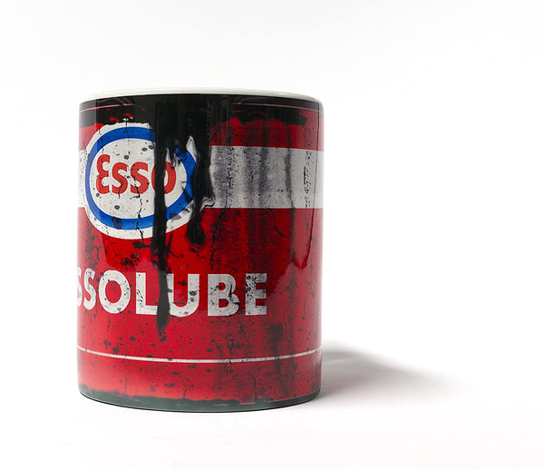 Esso Lube Motor Oil Can Mug