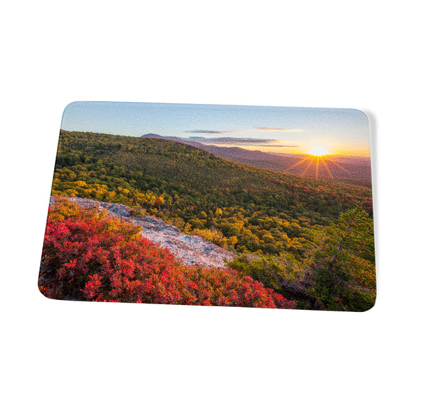 Early Autumn Nubble Sunset Cutting Board by Chris Whiton