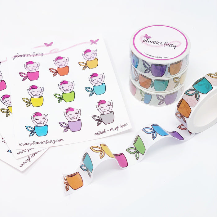 Rainbow Fairy Mug Washi