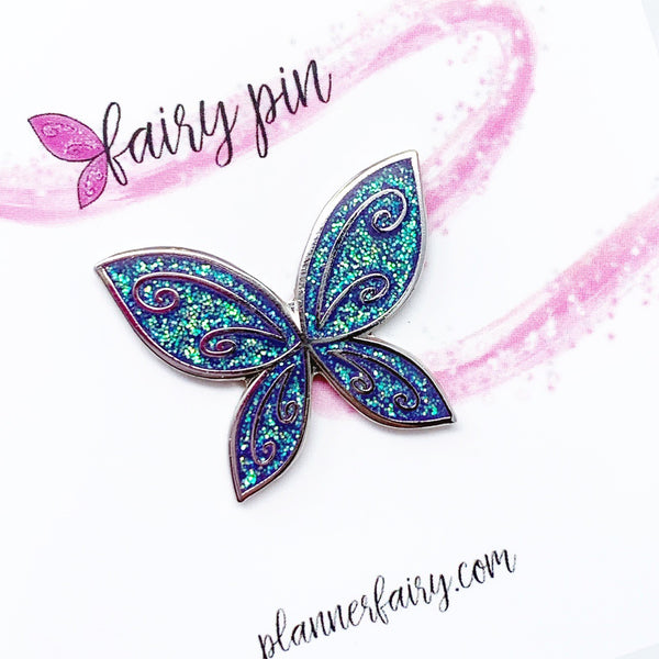 Fairy Wing Enamel Pin || Ultra Violet