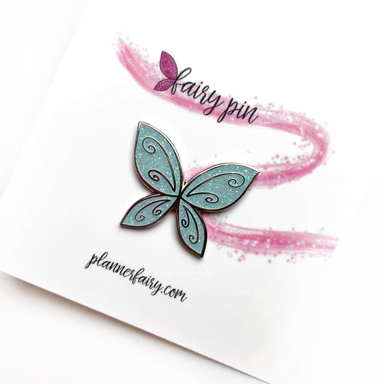 Fairy Wing Enamel Pin || Sky