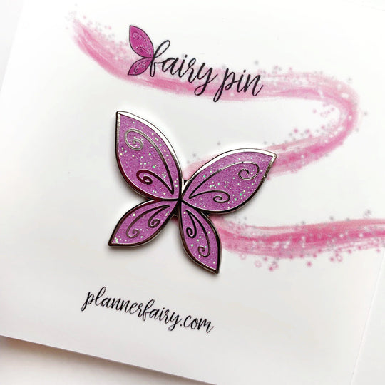Fairy Wing Enamel Pin || Orchid