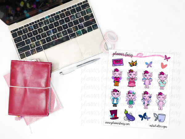 Astrid Alter Egos || Planner Fairy Exclusive Hand Drawn Stickers