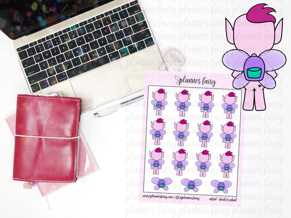 Astrid Back to School || Planner Fairy Exclusive Hand Drawn Stickers