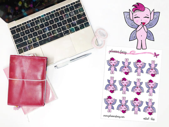 Astrid Kiss || Planner Fairy Exclusive Hand Drawn Stickers