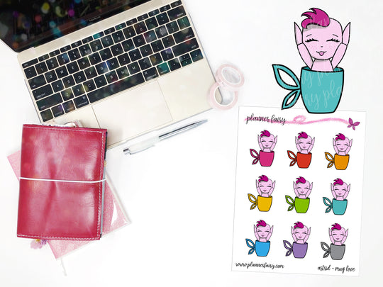 Astrid Mug Love || Planner Fairy Exclusive Hand Drawn Stickers