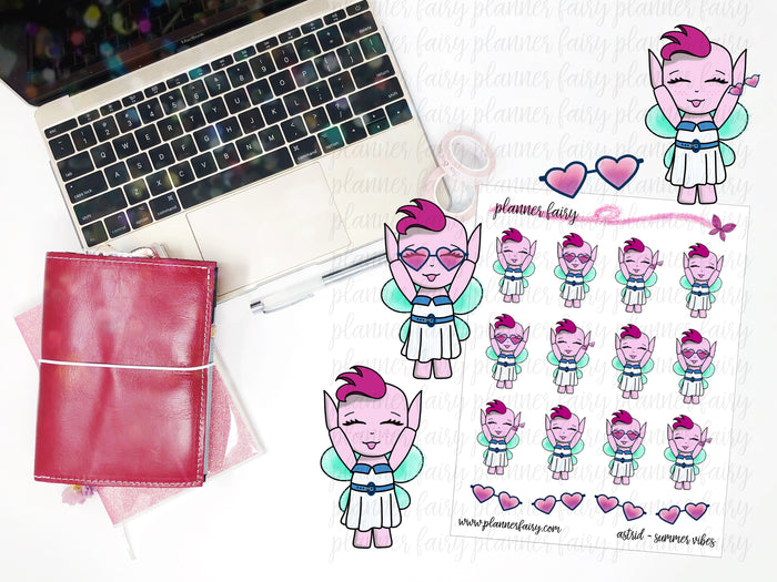 Astrid Summer Vibes || Planner Fairy Exclusive Hand Drawn Stickers