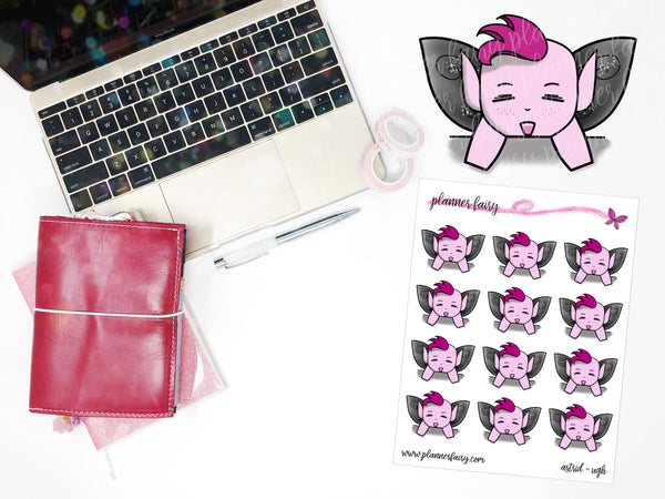 Astrid Ugh || Planner Fairy Exclusive Hand Drawn Stickers