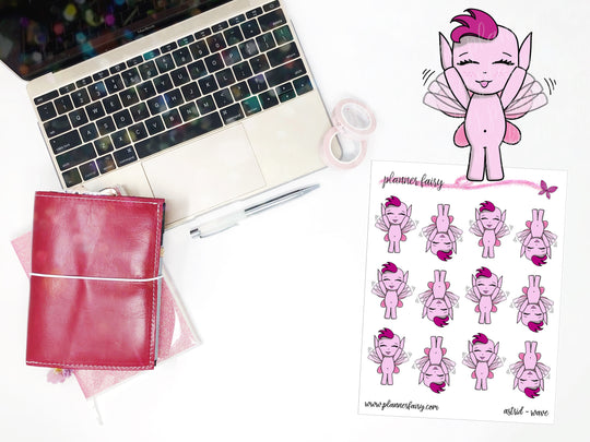 Astrid Wave || Planner Fairy Exclusive Hand Drawn Stickers
