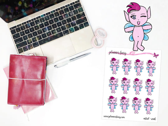 Astrid Wink || Planner Fairy Exclusive Hand Drawn Stickers