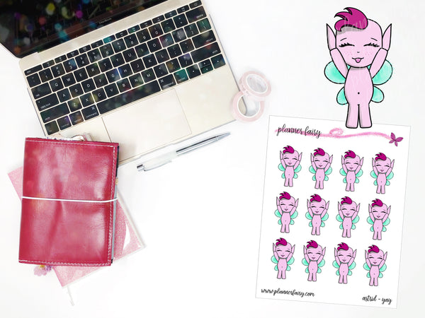 Astrid Yay || Planner Fairy Exclusive Hand Drawn Stickers